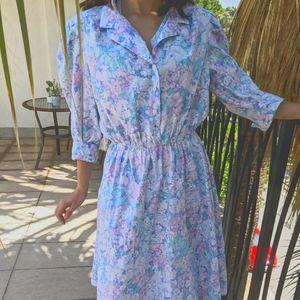 Vintage cotton floral cottage dress